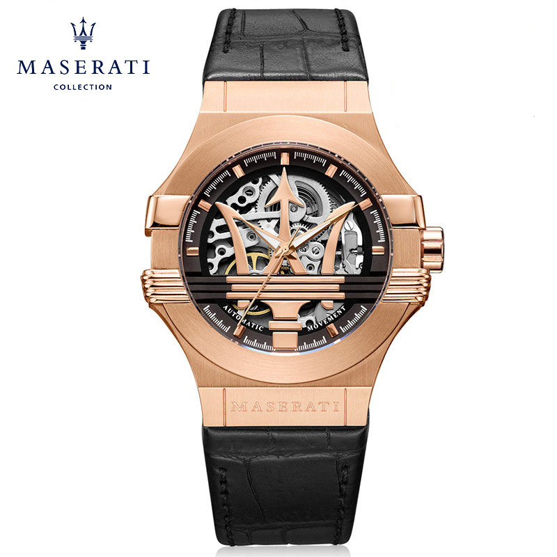 Maserati 2018 New Wristwatches Fashion Round Buckle Automatic Mechanical Wristwatches Rose Waterproof Watches R8821108112 часы maserati