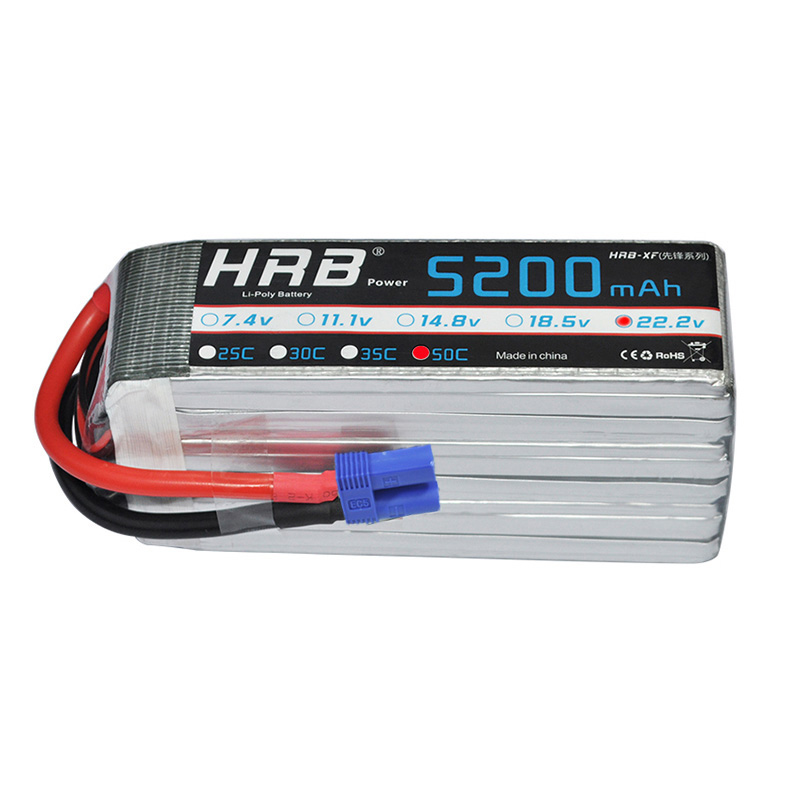 HRB 6S Lipo Battery 22 2V 5200mah 50C Max 100C For Helicopter RC Model Airplane Quadcopter