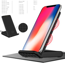 Wireless Relaxation Charger Cradle desktop Dock Holder Station adapter For iPhone 8 8Plus X For Samsung Galaxy S8 S8+ Note7 S7