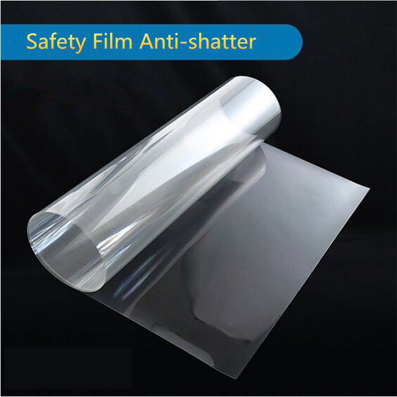 50cm500cm safety film transparent security glass protective tint film for publis places glass shatter proof