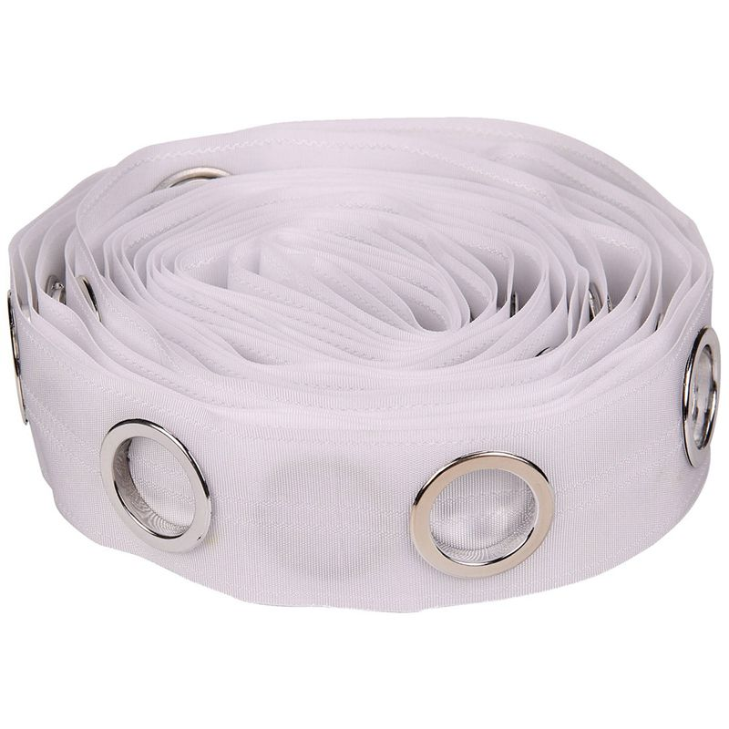 5m Eyelet Curtain Tape 25 Rings Accessories Sewing Sliver