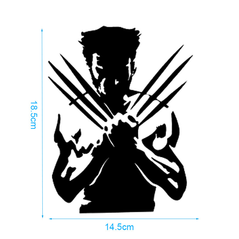 Car Stickers Wolf X Men Funny Wolverine Wolf Cartoon Car Styling Vinyl Car Sticker Waterproof Auto Tuning Styling 14.5cm*18.5cm-in Car Stickers from ...