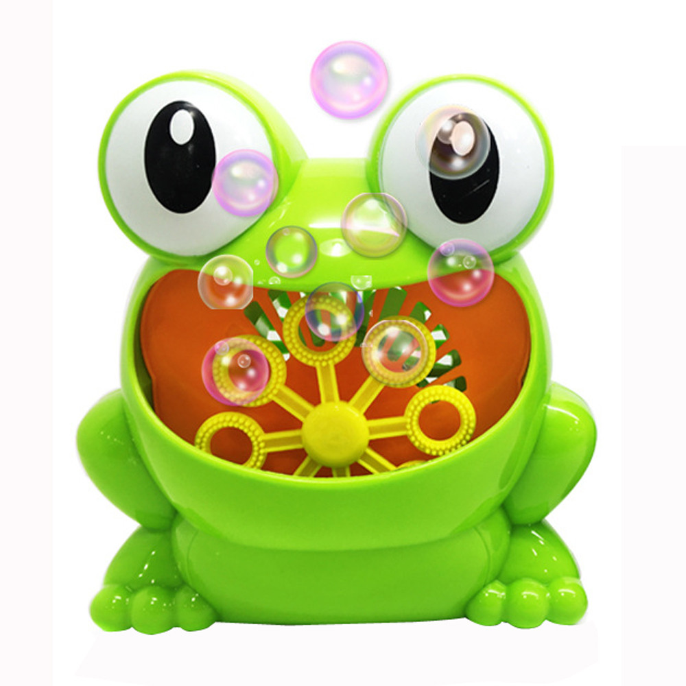 New Cute Frog Automatic Bubble Machine Blower Maker Party Su