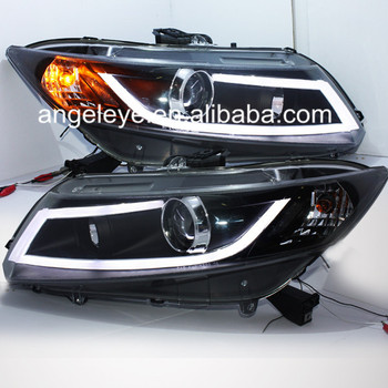 For HONDA for Civic A8 Style LED Head Light with projector lens 2012-2014 year JY