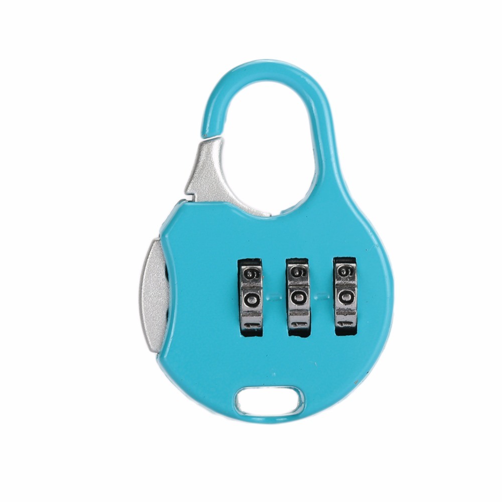 3 Digit Password Lock Luggage Code Padlock Metal Resettable Combination Lock Outdoor Security Suitcase Password Lock indoor outdoor portable smart padlock without key or password quickly 1 second unlock as travel backpack lock luggage lock