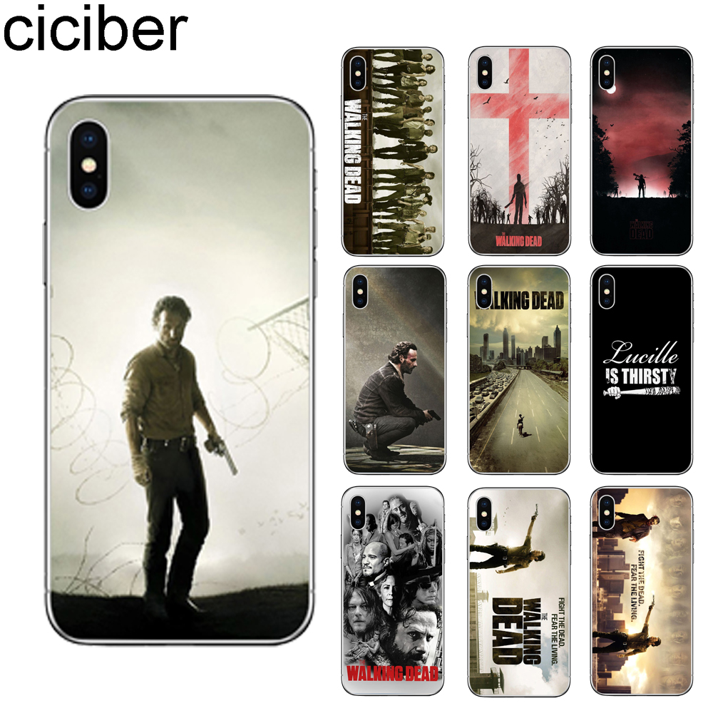 ciciber The Walking Dead Phone Case for iPhone 11 Pro XS MAX X