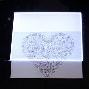 Image 5 - Orijinal dijital tablet A4 LED grafik sanatçı ince sanat Stencil çizim kurulu ışık kutusu İzleme masa ped üç seviyesi kopya