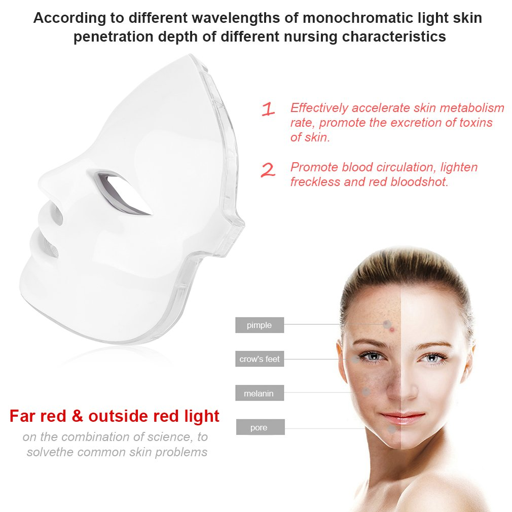 Professional Electric 7 Colors LED  Facial Mask Home Use Beauty Instrument Anti Acne Skin Rejuvenation Photodynamic Face Mask hot sale safety home use electric potential therapeutic instrument beauty
