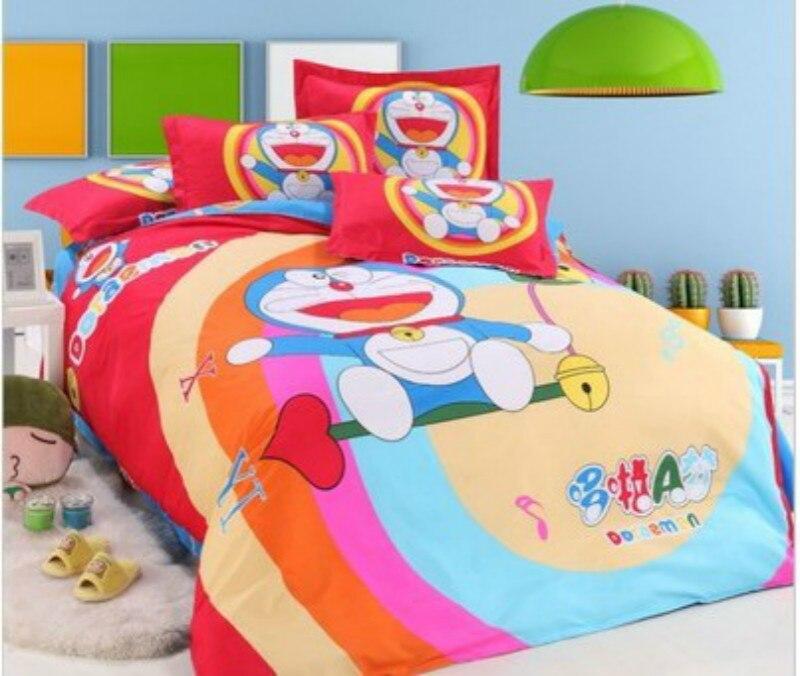 doraemon cartoon 4pcs 3d bedding sets fashion america british flag bedclothes duvet cover bed sheet pillowcase