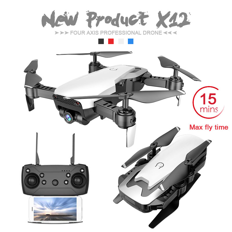 Newest X12 with 0.3MP/2MP Wide Angle HD WiFi Camera FPV Mini Drone Rc Helicopter Hight Hold Quadcopter Vs Eachine E58 Dron Toys