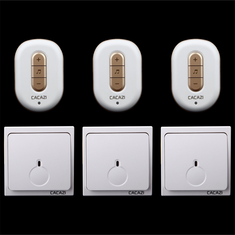 Free shipping! 3 transmitter + 3 Receiver New Wireless Doorbell With Remote Control Musical 48Tunes Digtal doorchime D9918 -3+3