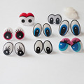 50pcs/lot---- new design cartoon plastic safety toy eyes & hard washer for diy plush doll materials--you can choose style