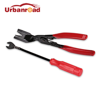 Urbanroad 1 Set Plastic Auto Clip Removal Pliers Screwdriver Plastic Fastener Car Door Panel Nail Puller