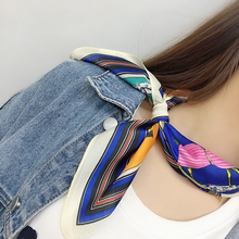 Fashion Women Kerchief Neck Scarf For Hair Animal Print Silk Satin Bag Scarfs Female 53cm*53cm Square Headband Scarves Lady