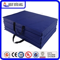 2.4mx1.2mx5cm China outdoor gym equipment extra thick foam gymnastics crash mats