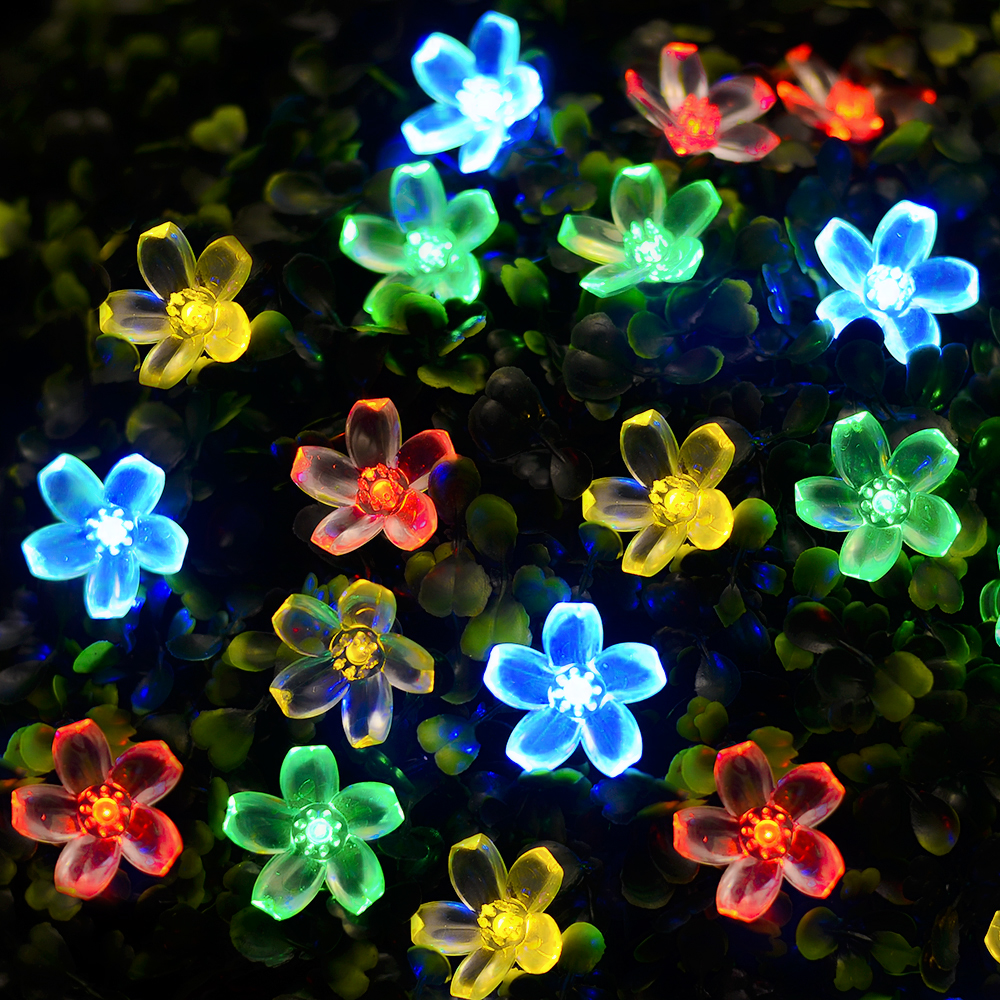 lmid solar lampen blüten dekorative lichter wasserdicht weiß fee