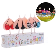 Candles Birthday Topper Cake Christmas-Decoration Creative Cartoon 5pcs Bikini Kid's