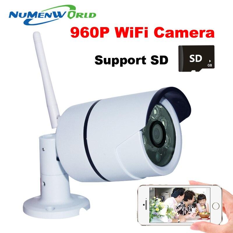 bilder für 2016 Wifi Drahtlose IR Netzwerk IP kamera 960 P HD Outdoor videoüberwachung überwachungskamera Sd-kartenslot 1.3MP Megapixel