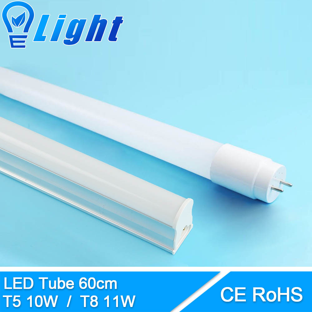 High Bright T5 10W/T8 11W LED Tube Light 110V 220V 240V LED T5 T8 Lamp Wall Warm Cold White Fluorescent T5 PVC Plastic Aluminum prorab 2422 нк