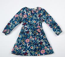 Danmoke девушки платье 2017 Новинка весны и Летнее платье для маленьких девочек цветочный узор печати Дизайн одежда с длинными рукавами для девочек От 2 до 8 лет