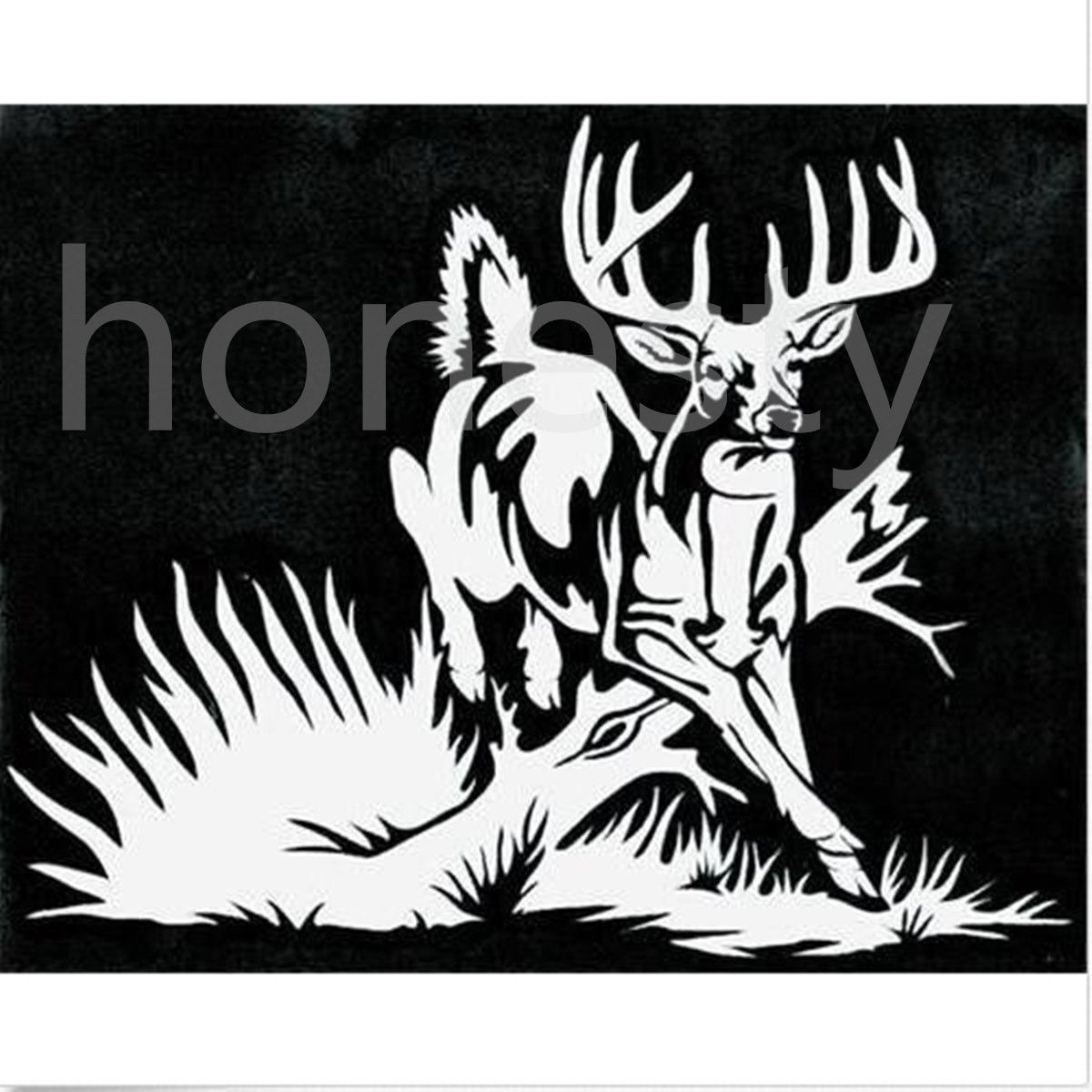 Whitetail Deer buck hunting car truck window vinyl decal graphic sticker ...