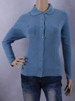 50% хлопок 50% кашемировый свитер Для женщин зеленый розовый синий Кардиган Леди Природный Толстые теплые высокое качество распродажа Беспла...