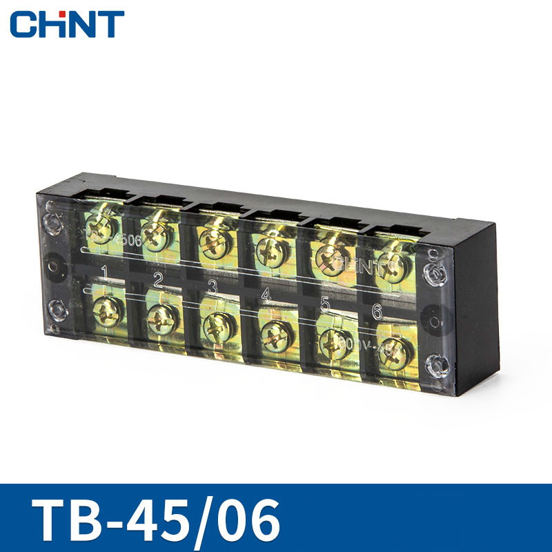 CHNT 3 Position Terminal Group Type Connection Link Row TB-4506 45A Solder Seal Heat Shrink Butt Connector Pop Socket