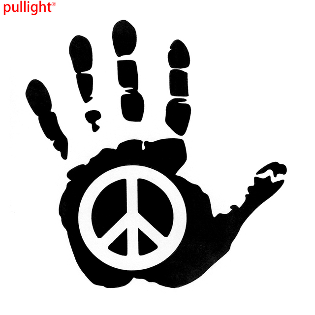 Peace Sign Hand Vinyl Car Sticker Motorcycle Decals In Car Stickers