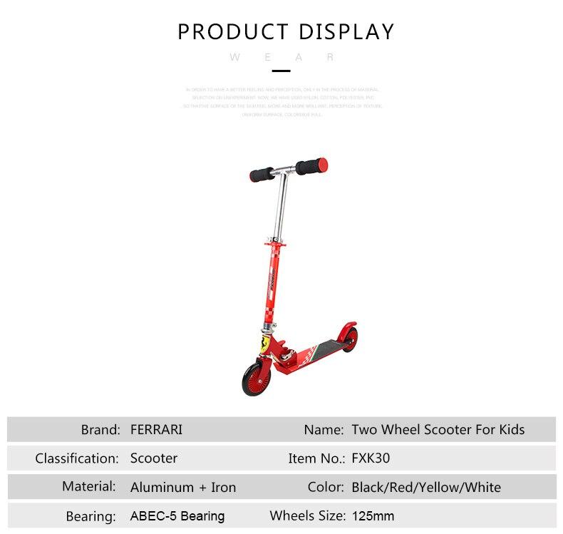 Scooter de pé dobrável ajustável, altura dobrável