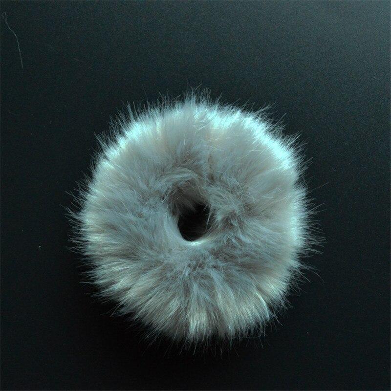 Резинки для волос резинка для волос Милые эластичные резинки для волос для девочек, искусственный мех, резиновое кольцо, веревка, пушистый бант аксессуары для волос, пушистая резинка на голову - Цвет: C8