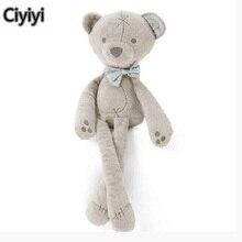 38 см Милые Носки с рисунком медведя из мультика Мягкие плюшевые детские игрушки дети сном медведь сопровождать сна Жуэ рождения детей игрушки подарок