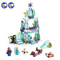 Bela 10435 Cinderella S Romantic Castle Anna Elsa Minifigures Building Blocks Brick SY373 Toys For Girls