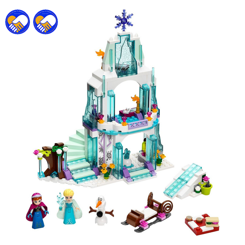 A toy A dream Bela 10435 Cinderella's Romantic Castle Anna Elsa Building Blocks Brick SY373 Toys For Girls 41062 цена