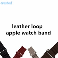 Genuine Leather Loop For Apple Watch 38mm 42mm Strap Bracelet Adjustable Magnetic Closure Loop Band Leather