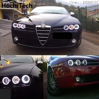 For Alfa Rome 159 2004-2011 RGB LED headlight rings halo angel demon eyes with remote controller