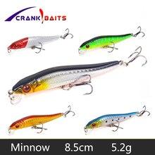 CRANK BAITS Lure Fishing Minnow Crankbait Hard Bait 8.5cm 5.2g Tight Wobbler Jerkbait 5 colors Floating Fish Swimbait Pesca YB26 недорого