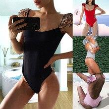 2018 New Sexy One Piece Swimsuit Women Swimwear Push Up Bathing Suit Ruffle Monokini Female Bodysuit Summer Beach Wear Swim Suit цены