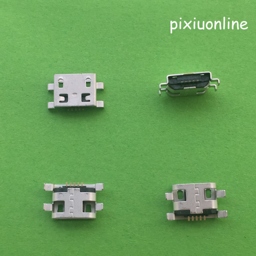 10pcs G29Y Micro 5pin B Type Female Socket Connector Plain Mouth For Mobile Phone Charging Free Shipping Russia