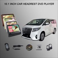 BigBigRoad For TOYOTA ALPHARD Car Headrest Monitor Car DVD 2*10.1 Digital Screen Support IR HDMI USB SD DVD Player Games