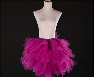 Image 5 - Tulle Petticoat ชุดสาวสี Underskirts สั้น Tutu Crinolina Fluffy เวทีเต้นรำกระโปรง Jupon