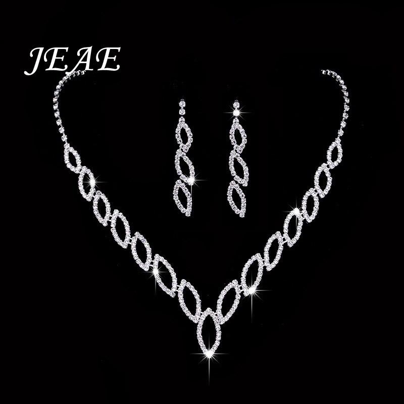 Luxury Zirconia Women Wedding Necklace Bridal Jewelry Sets Brides Jewellery Crystal Rhinestone Silver Earrings Bijoux Mariage