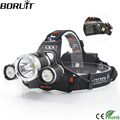 BORUiT RJ-5000 XML-T6 R2 Headlight 4-Mode Headlamp Power Bank Head Torch Hunting Camping Flashlight 18650 Battery Light