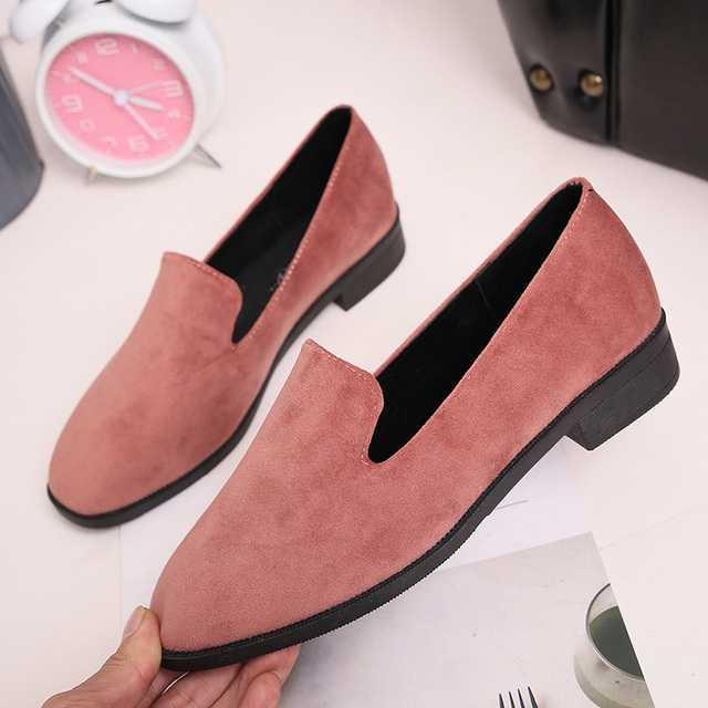 AD AcolorDay 2017 Classic Elegant Moccasins Loafers Slip-on Women Shoes Flats Comfortable Summer Solid Flock Female Shoes 35-39