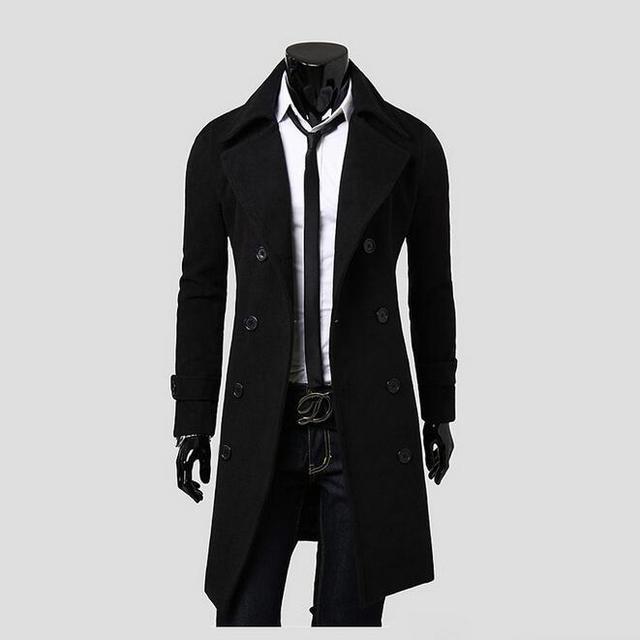 Nova era dos homens trespassado longo trench coats esguio e elegante europeu jaqueta casaco jaqueta militar à prova d' água m