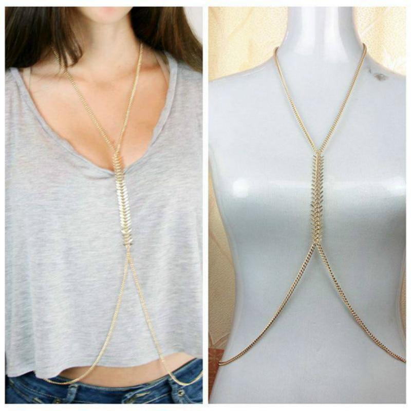Body Chain Necklace Women...