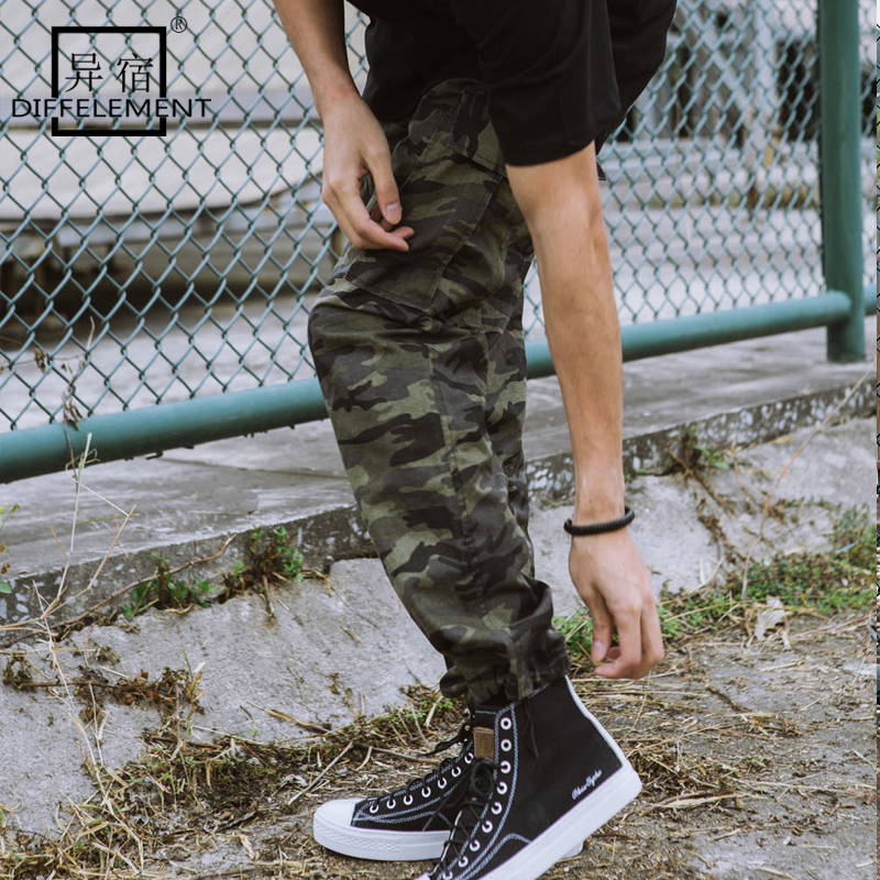 DIFFELEMENT Camouflage Mens Military Cargo Pants Multi-pockets Hot Sale Men Pants Tactial Casual Trousers Overalls Army Pants