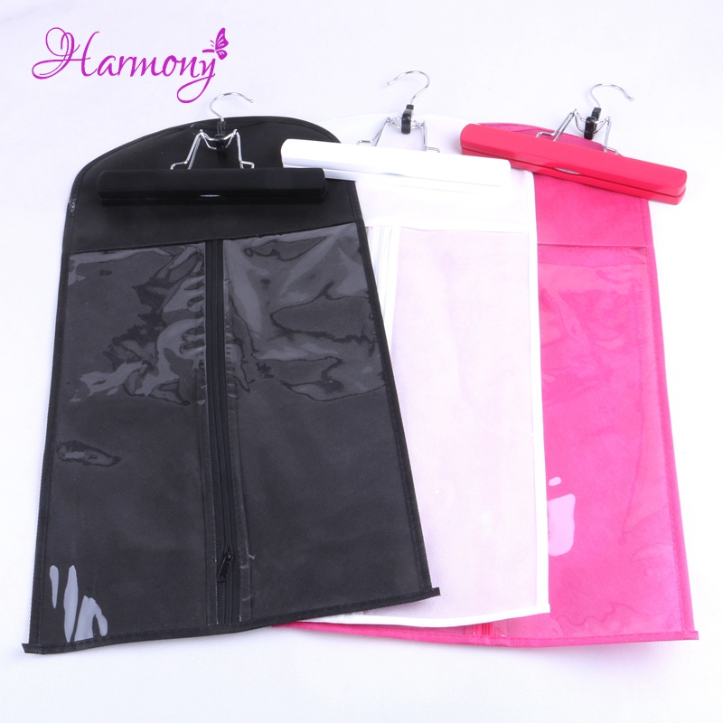 10set lot Hair Extension Hanger with zip bag Hair Extensions Storage Bag For Carrie and Packing