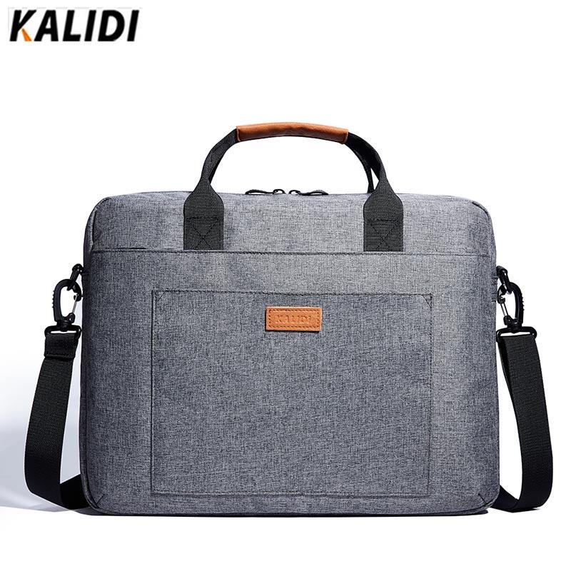 цена на KALIDI 13 14 15 inch Laptop Shoulder Bag Messenger Bag Men Women Office Handbag  Business Bag Waterproof Notebook Bag 13.3 15.6