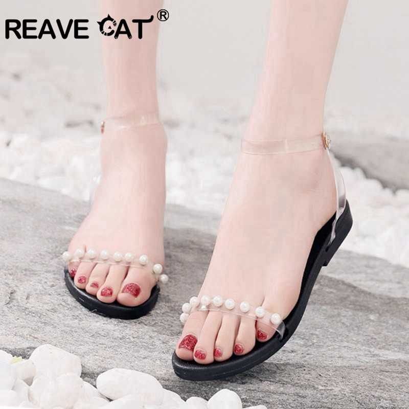 REAVE CAT Pearls Transparent PU Leather