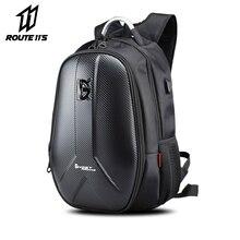 Motorcycle Backpack Carbon Fiber Waterproof Moto Motorbike Helmet Bags Travel Luggage Computer USB Charging Plug